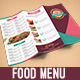 Colorful Trifold Food Menu - GraphicRiver Item for Sale