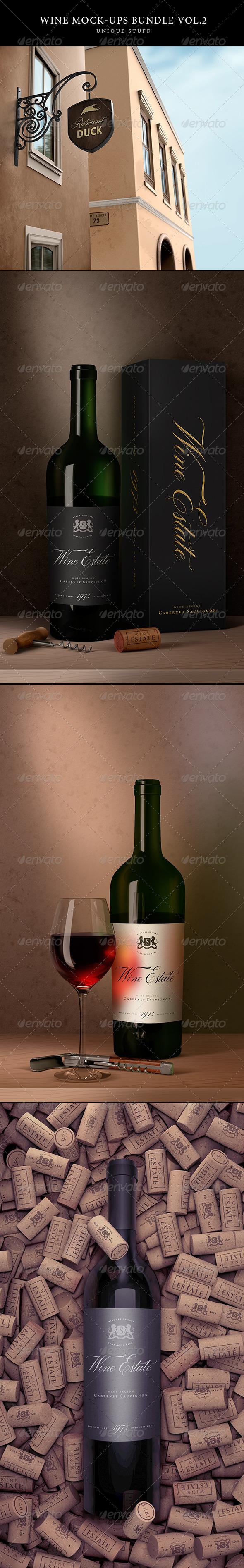 GraphicRiver Wine Branding Bundle Vol.2 8144996