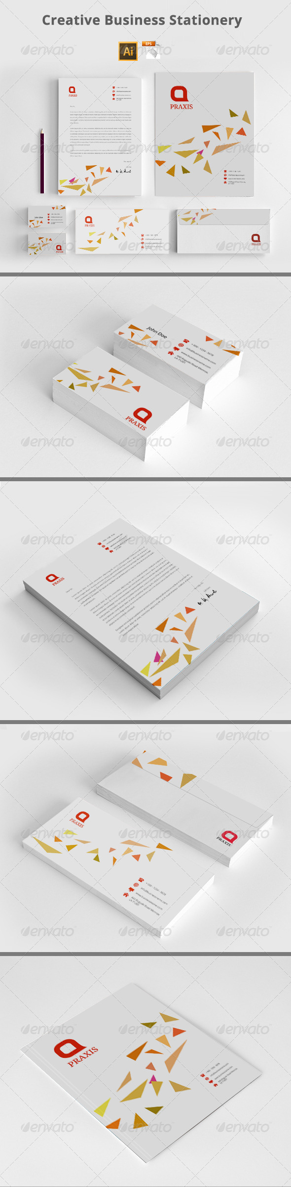 GraphicRiver Creative Business Stationery 8145228