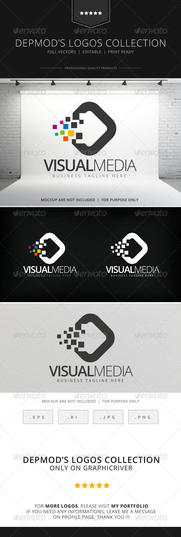 GraphicRiver Visual Media Logo 8145486