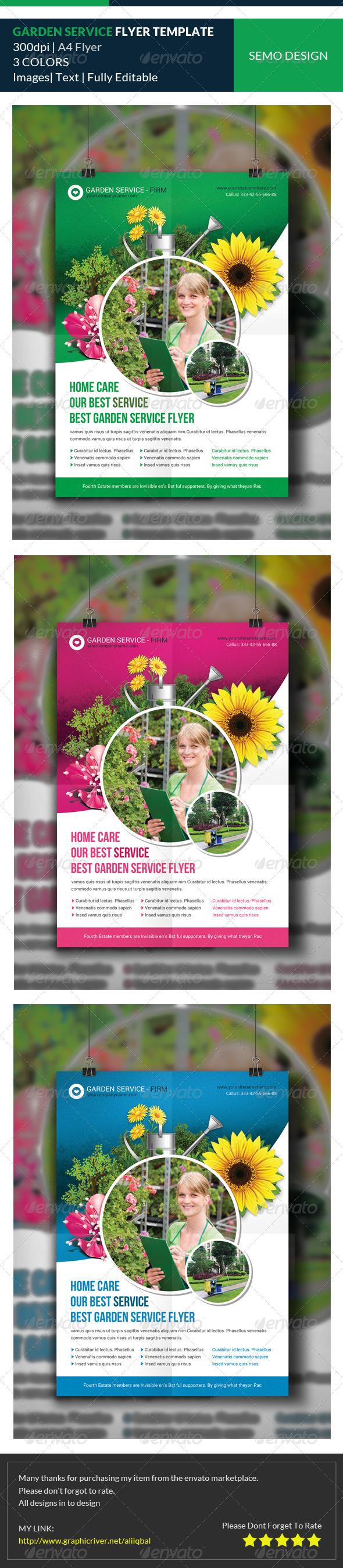 GraphicRiver Garden Service Flyer Template 8145520