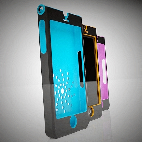3DOcean Stylish Iphone 5 case concept 3D printable 8145537
