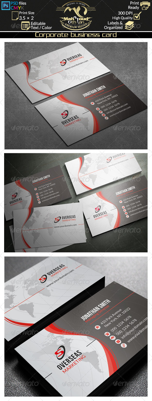 GraphicRiver Corporate Business Card 34 8145536