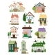 Assorted Houses Collection - GraphicRiver Item for Sale