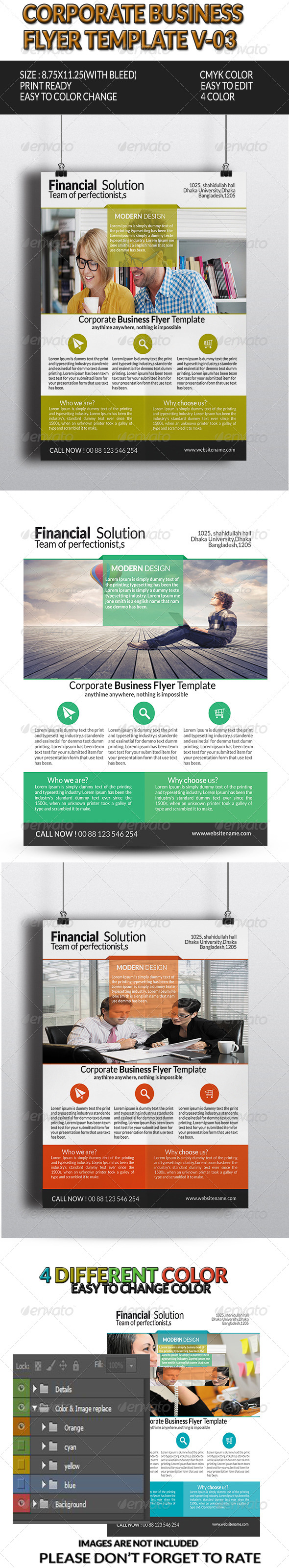 GraphicRiver Corporate Business Flyer Template V-3 8145707