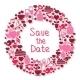 Save the Date Romantic Circular Symbol - GraphicRiver Item for Sale