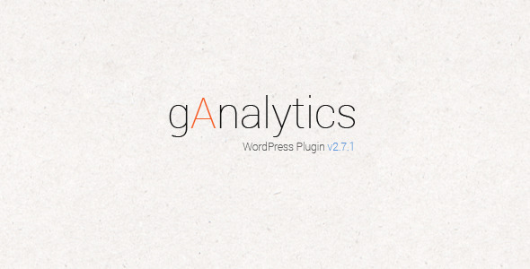 gAnalytics Google Analytics WordPress Plugin