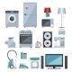 Colored Icons of Home Appliances - GraphicRiver Item for Sale