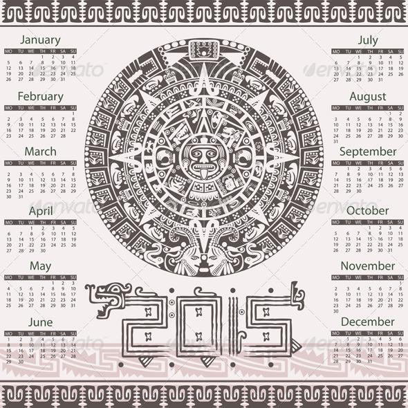 GraphicRiver Aztec Calendar 2015 8145858