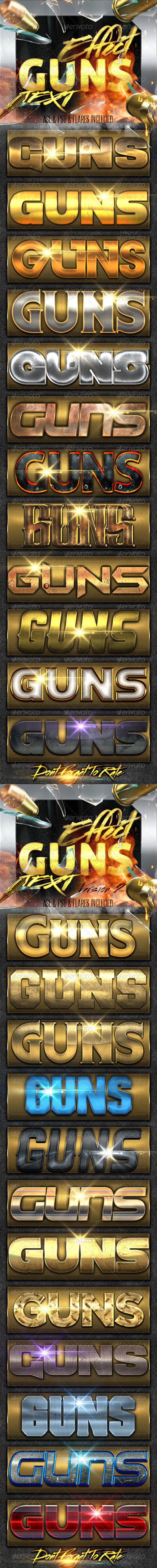 GraphicRiver Guns Styles Bundle 8145919