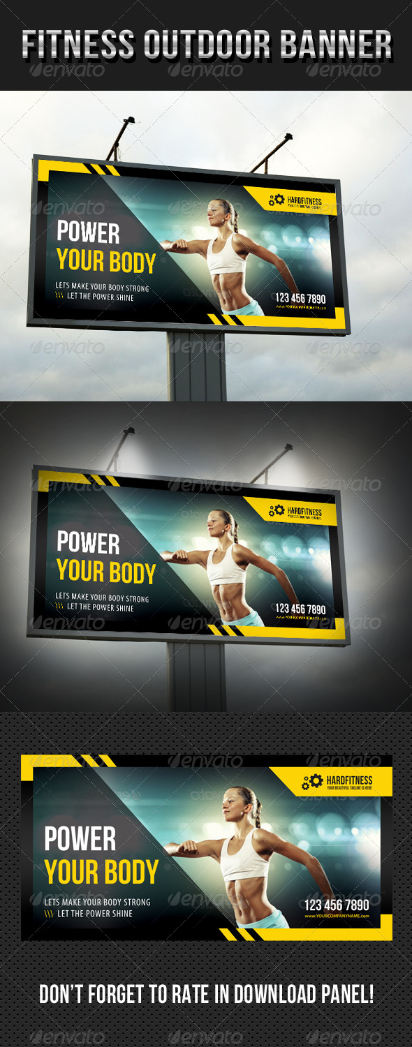 GraphicRiver Fitness Outdoor Banner 12 8146029