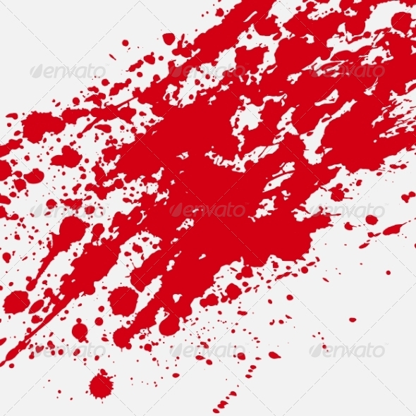 GraphicRiver Red Bloody Blots and Splatters 8146084