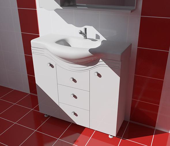 Bathroom Set Bh-1 - 3DOcean Item for Sale