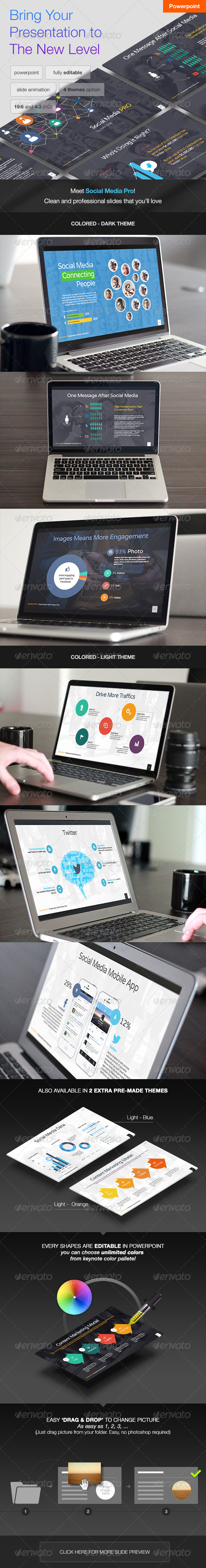 GraphicRiver Social Media PRO Powerpoint Template 8146211