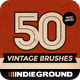 50 Vintage Brushes Set - GraphicRiver Item for Sale