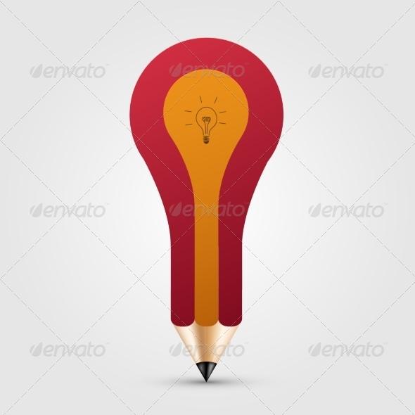 Concept Pencil with Idea