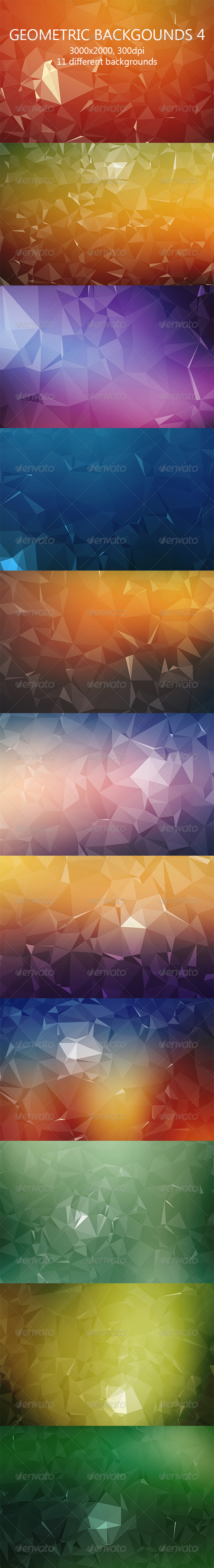 GraphicRiver Geometric Backgrounds 4 8146249
