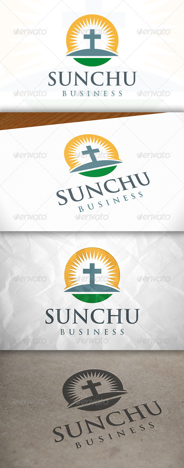GraphicRiver Sun Church Logo 8146275