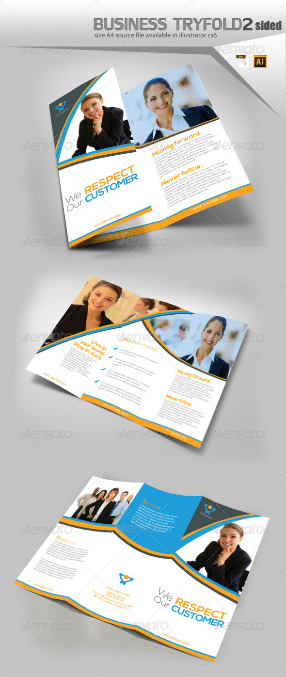 GraphicRiver Business trifold Brochure 8146337
