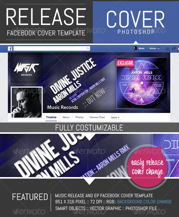 GraphicRiver Release EP Timeline Facebook Cover Template 8146658