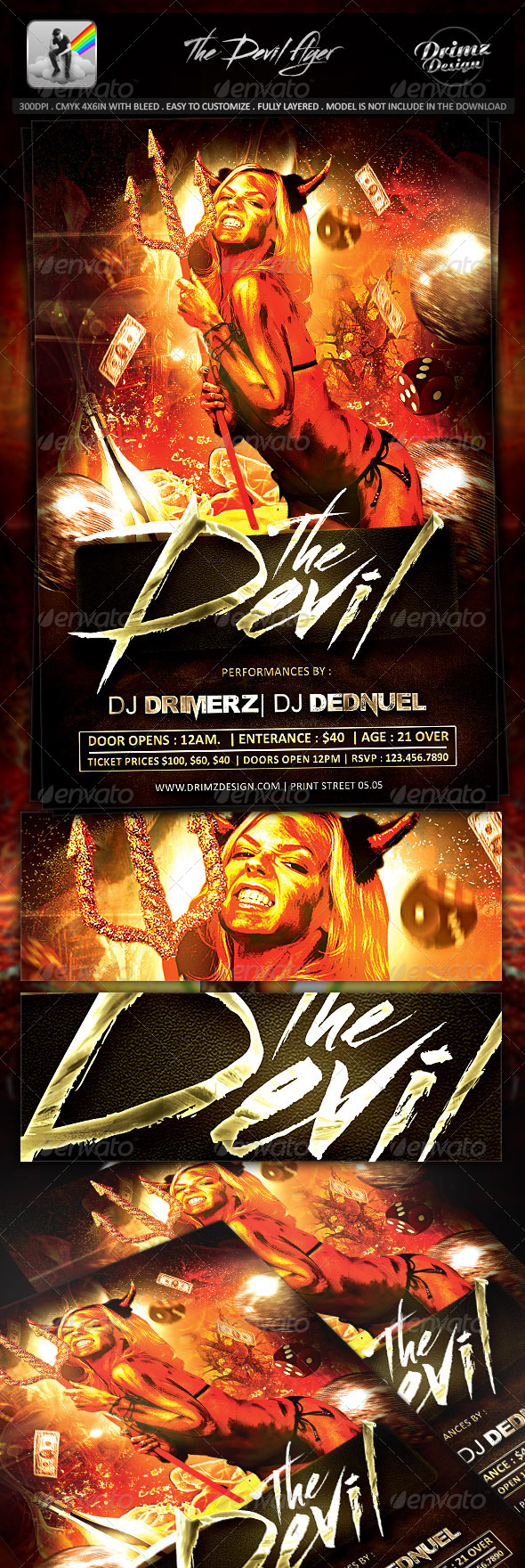 GraphicRiver The Devil Flyer 8146719