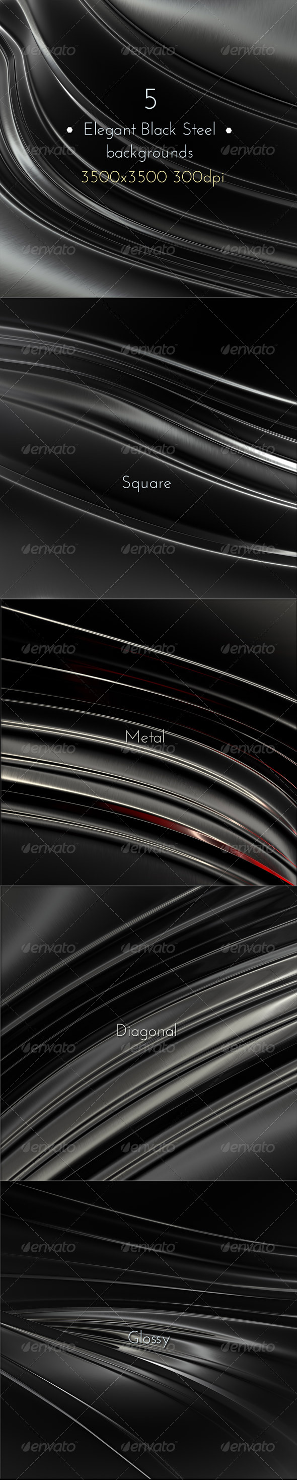 GraphicRiver Elegant Black Steel 8147300