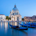 Basilica di Santa Maria della Salute and gondola. - PhotoDune Item for Sale