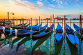 Venice with famous gondolas at sunrise - PhotoDune Item for Sale