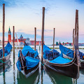 Gondolas in the Grand Canal at sunset - PhotoDune Item for Sale