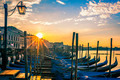 Venice with gondolas at sunrise - PhotoDune Item for Sale