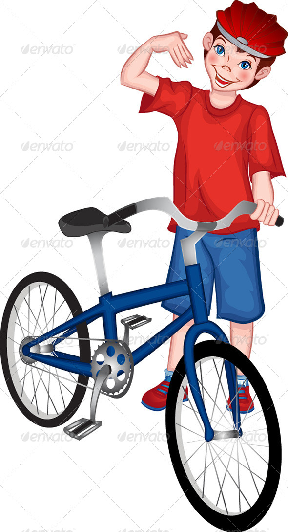 GraphicRiver Boy with Bicycle 8147675