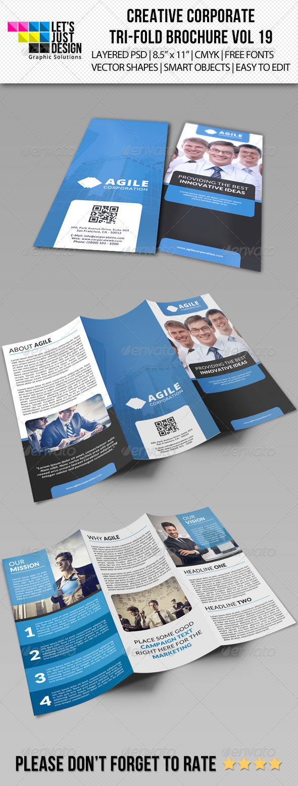 GraphicRiver Creative Corporate Tri-Fold Brochure Vol 19 8147732
