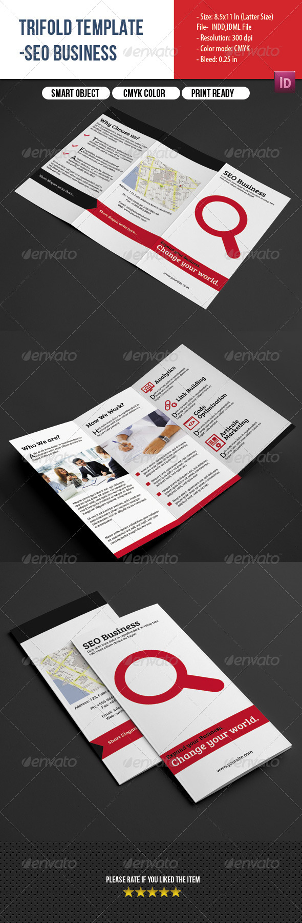 GraphicRiver SEO Business Trifold 8147851