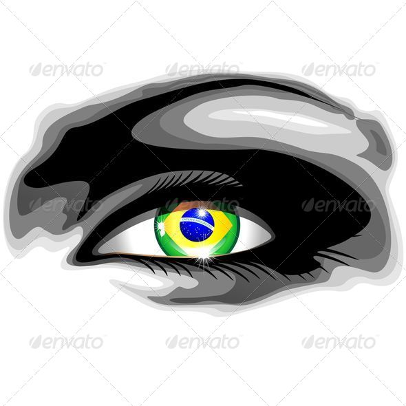 GraphicRiver Brazil Flag in Beautiful Girl s Eye 8147918