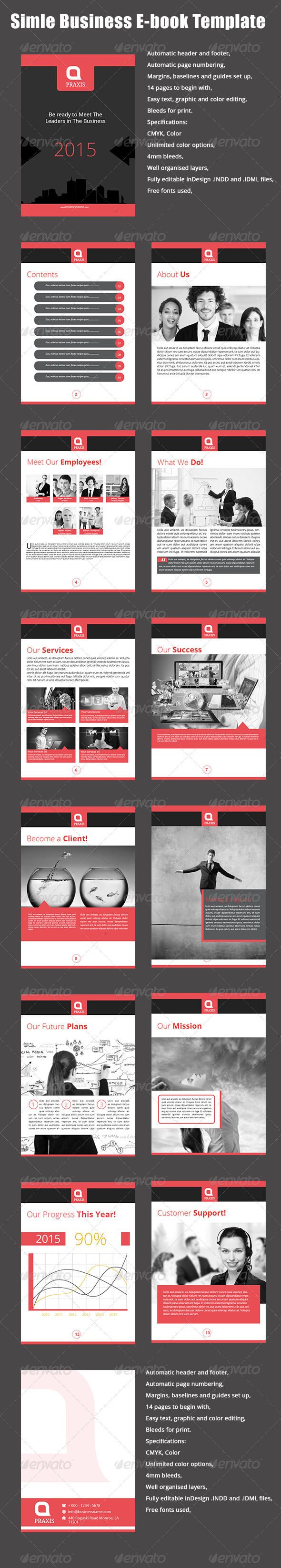 GraphicRiver Simple Business E-book Template 8147961