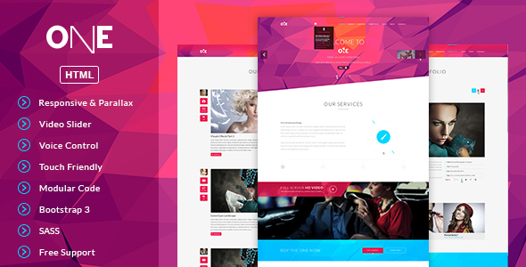 ONE- HTML Template - Portfolio Creative