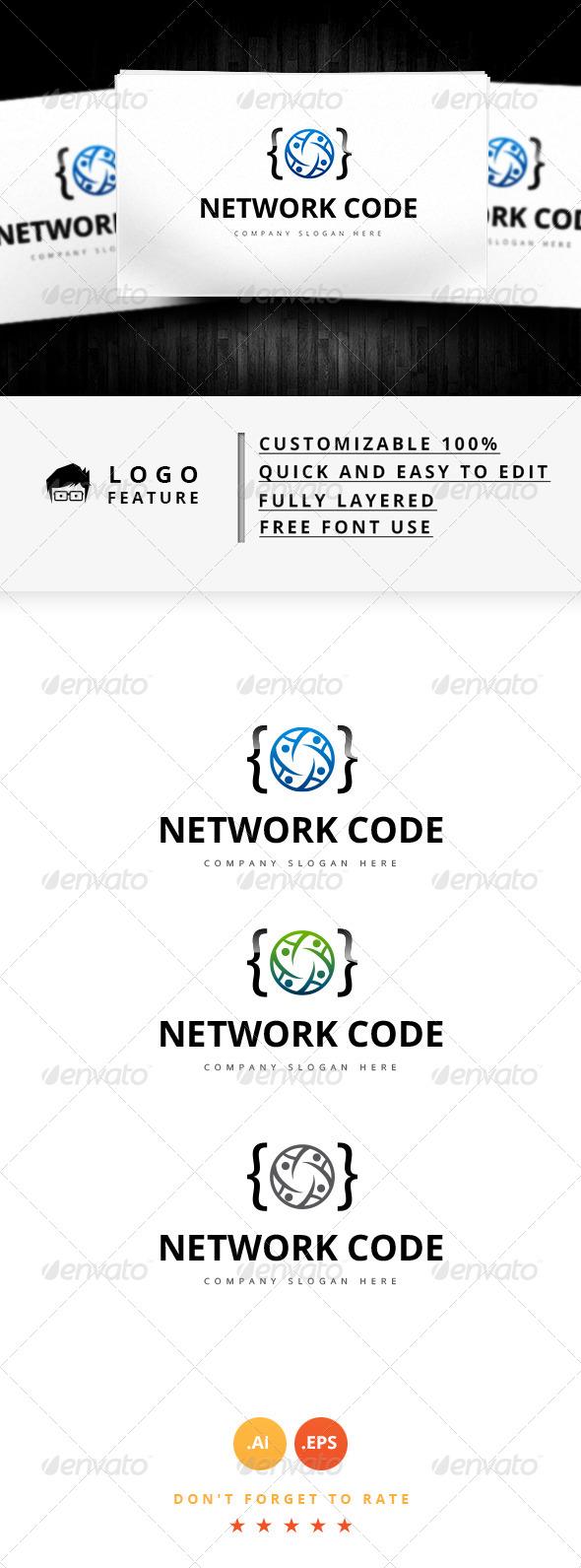 GraphicRiver Network Code Logo 8148238