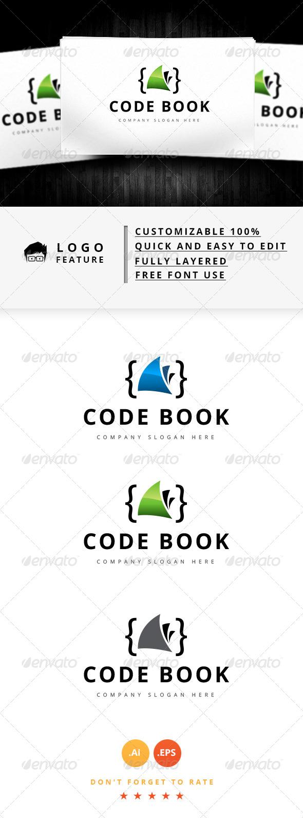 GraphicRiver Code Book Logo 8148497