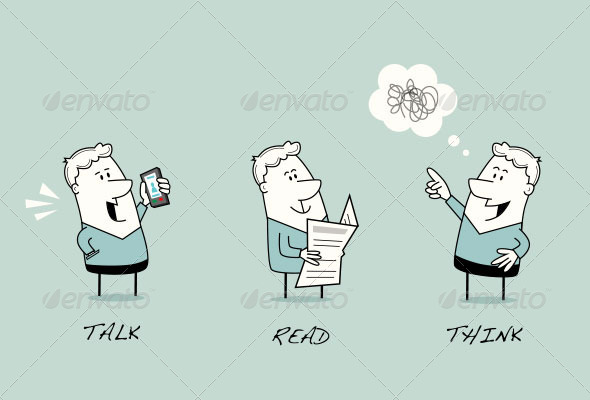 GraphicRiver Cartoon Man Character Set 8148537