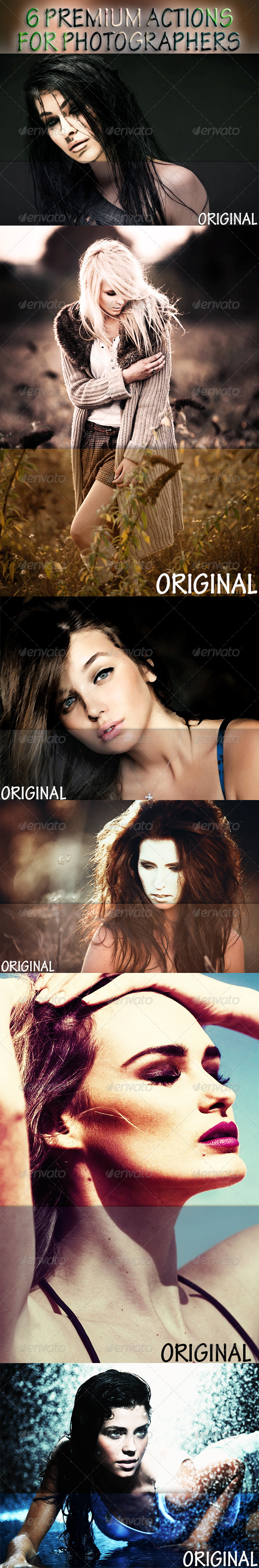 GraphicRiver 6 Premium Actions For Photographers 8148606