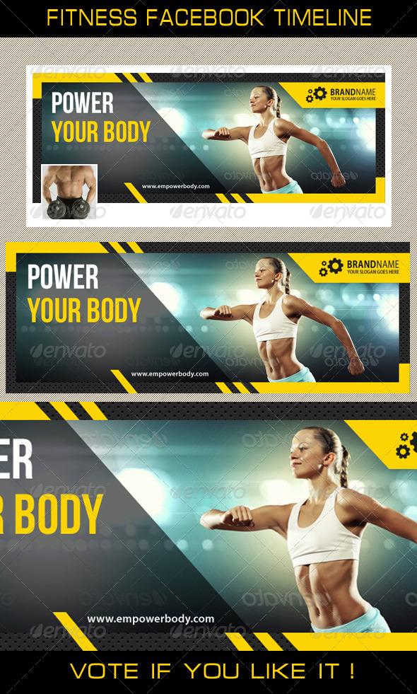 GraphicRiver Fitness Facebook Timeline 03 8148716