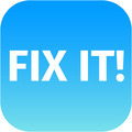 A blue icon with the words Fix It - PhotoDune Item for Sale