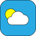 Weather web icon with cloud and sun - PhotoDune Item for Sale