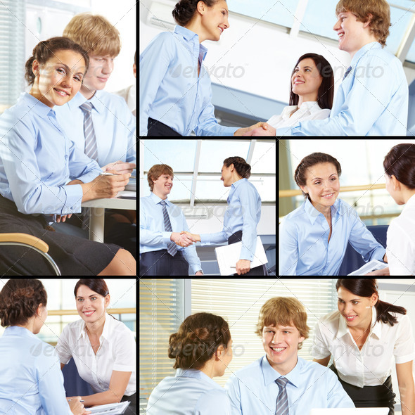 Managers at work - Stock Photo - Images