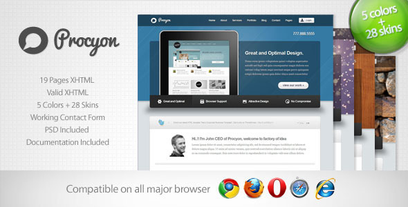 ThemeForest Procyon Corporate Business Template 6 596234