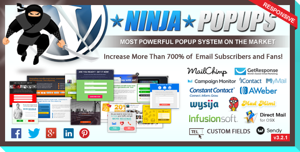 Ninja Popups for WordPress - CodeCanyon Item for Sale