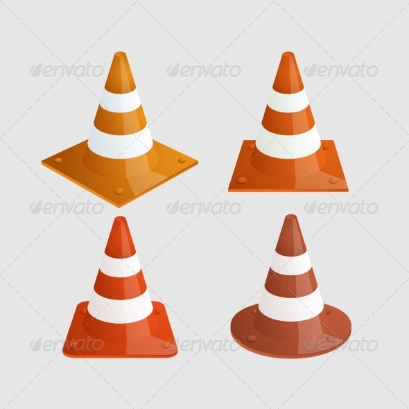 GraphicRiver Traffic Cones 8150224