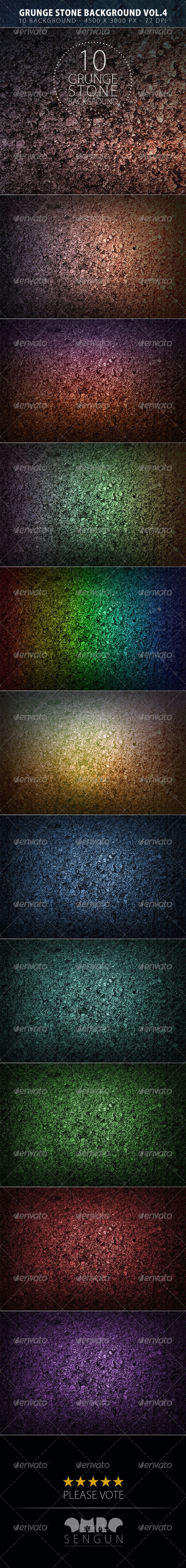 GraphicRiver Grunge Stone Backgrounds Vol.4 8143066