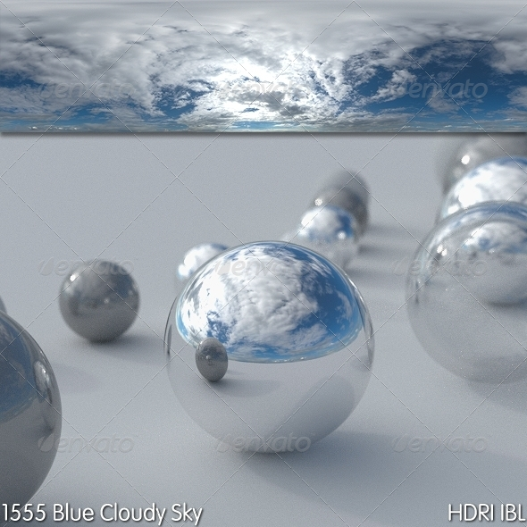 3DOcean HDRI IBL 1555 Blue Cloudy Sky 8150254