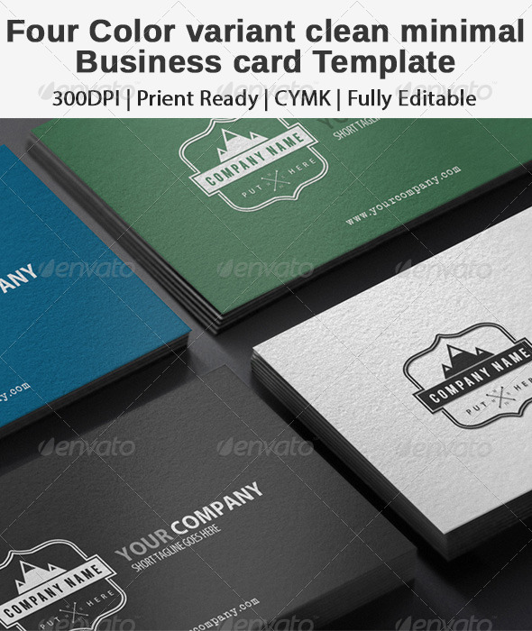 GraphicRiver Clean Minimal Professional Business Card 8145925